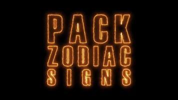 Pacote de ícones e signos do zodíaco 4k video