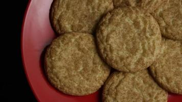 Cinematic, Rotating Shot of Cookies on a Plate - COOKIES 117 video