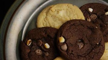 Cinematic, Rotating Shot of Cookies on a Plate - COOKIES 277 video