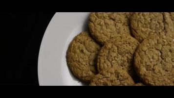 Cinematic, Rotating Shot of Cookies on a Plate - COOKIES 058 video