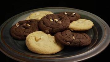 Cinematic, Rotating Shot of Cookies on a Plate - COOKIES 264 video