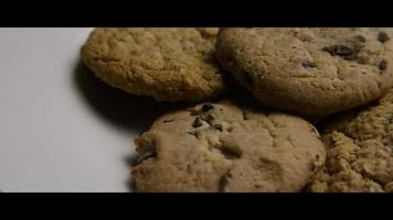 Cinematic, Rotating Shot of Cookies on a Plate - COOKIES 071 video