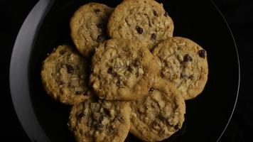 Cinematic, Rotating Shot of Cookies on a Plate - COOKIES 155 video