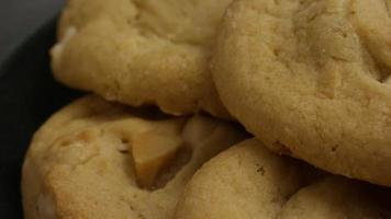 Cinematic, Rotating Shot of Cookies on a Plate - COOKIES 253 video