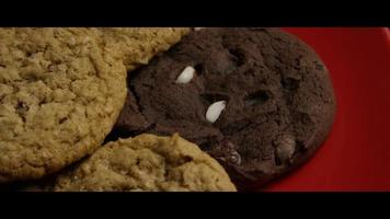 Cinematic, Rotating Shot of Cookies on a Plate - COOKIES 093 video