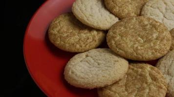 Cinematic, Rotating Shot of Cookies on a Plate - COOKIES 143 video