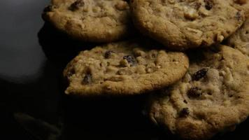Cinematic, Rotating Shot of Cookies on a Plate - COOKIES 169 video