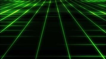 bucle de fondo de cuadrícula de tecnología abstracta