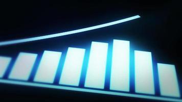 Infografia de seta de sucesso e crescimento de negócios video