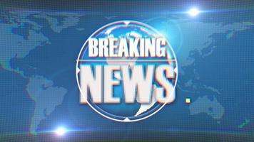 Breaking News Intro TV Broadcast On Earth Background video