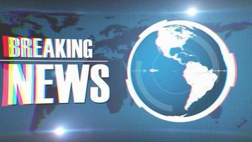 ultime notizie intro trasmissione televisiva sullo sfondo della terra