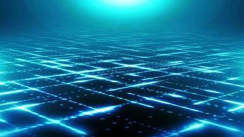 boucle de fond de lignes de particules technologiques abstraites video