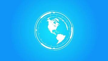 logotipo do planeta Terra com efeitos hud infográficos