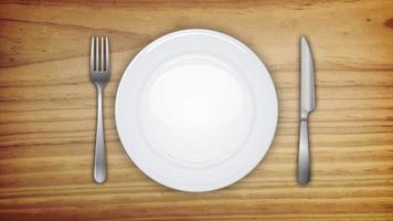 sfondo invito a cena con set da tavola
