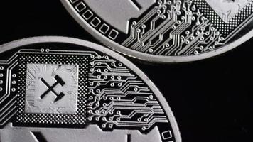 Tiro giratorio de bitcoins (criptomoneda digital) - bitcoin litecoin 446 video