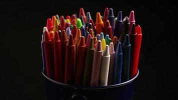 tiro giratório de giz de cera colorido para desenho e artesanato - giz de cera 014