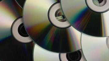 Rotating shot of compact discs - CDs 035