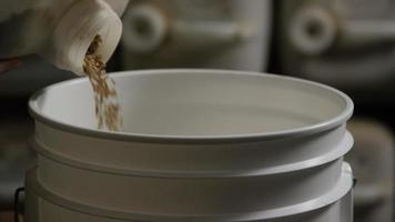 filmati al rallentatore di forniture e processi di produzione di birra in casa - produzione di birra 003 video