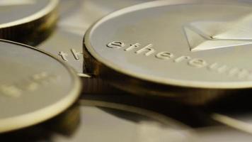 colpo rotante di bitcoin ethereum (criptovaluta digitale) - bitcoin ethereum 0059