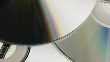 Rotating shot of compact discs - CDs 037