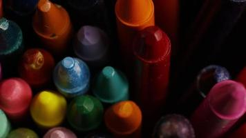 tiro giratório de giz de cera colorido para desenho e artesanato - giz de cera 008