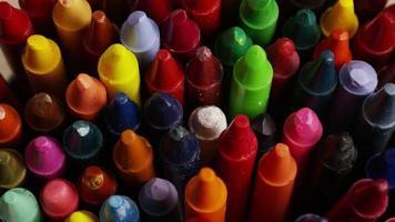 tiro giratório de giz de cera colorido para desenho e artesanato - giz de cera 007