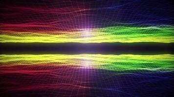 boucle de défilement de paysage de technologie filaire abstraite