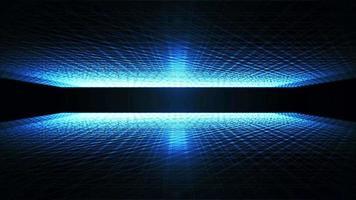 loop de rolagem de paisagem de tecnologia wireframe abstrata video