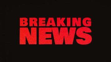 Breaking News Hintergrund mit Glitch-Effekten video