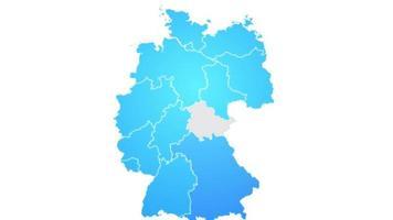 mapa da alemanha mostrando introdução com novas regiões video