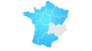 France Map Showing Up Intro With New Regions video