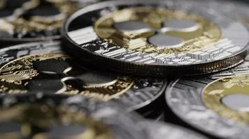 Tir rotatif de bitcoins (crypto-monnaie numérique) - ondulation de bitcoin 0123