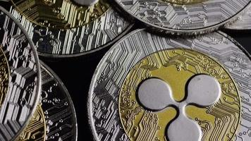 rotierende Aufnahme von Bitcoins (digitale Kryptowährung) - Bitcoin-Welligkeit 0107