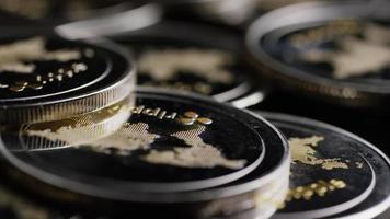 rotierende Aufnahme von Bitcoins (digitale Kryptowährung) - Bitcoin-Welligkeit 0157