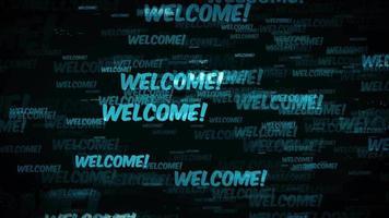 messaggio di benvenuto in background loop video
