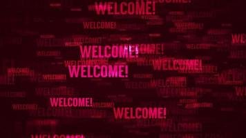 Welcome Message Background Loop in Red text video