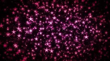 Fondo de bucle sin fisuras de estrellas de hadas mágicas