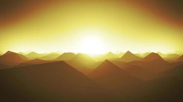 Mountains Landscape Silhouette Background Loop