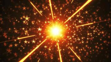 Festive Holiday Stars Background Loop