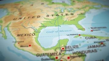 Geographie Weltkarte Flug über Hintergrund video