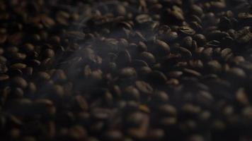 Roasting Coffee Beans and smoke video