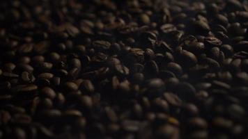 Roasting Coffee Beans and smoke