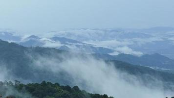 Beautiful mountains filled with fog. video