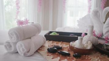 Spa massage decoration and body treatment.