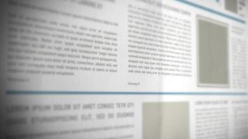 Scrolling 3d Newspaper Background