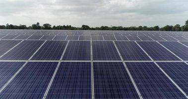 Aerial view of Solar cell Farm video