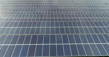 vista aérea da fazenda de células solares