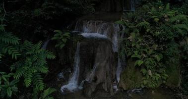 cascadas de la selva de montaña y agua cristalina