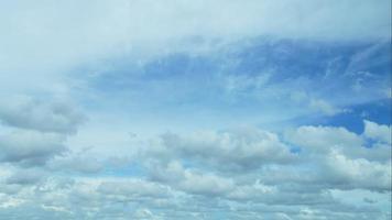 cielo blu nuvoloso di lasso di tempo