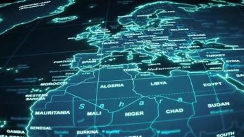 sfondo di tecnologia di viaggio mappa del mondo